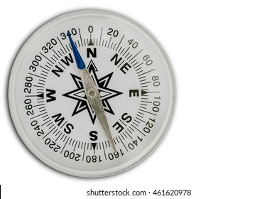 White Compass on white background