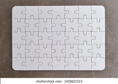 White complete jigsaw puzzle background