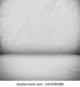 white concrete background concrete floor and concrete floor with studio light for backdrop design