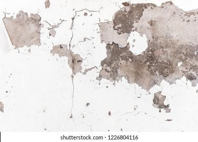 White concrete wall abrasion texture background
