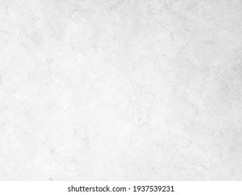 White concrete wall background in vintage style for graphic design or wallpaper. Pattern of soft cement floor in retro concept. Gray abstract texture detail in construction.