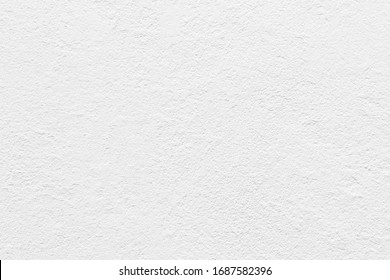 White concrete wall grunge background, cement construction material texture backdrop. - Shutterstock ID 1687582396