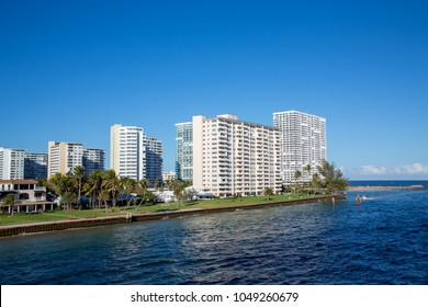 White Condos Along Fort Lauderdale Shipping Channel