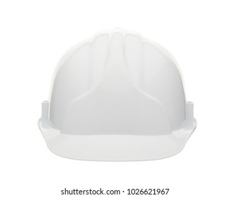 White construction helmet ( hard hat) on a white background. Protective clothes.