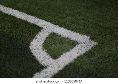 white corner of football field
