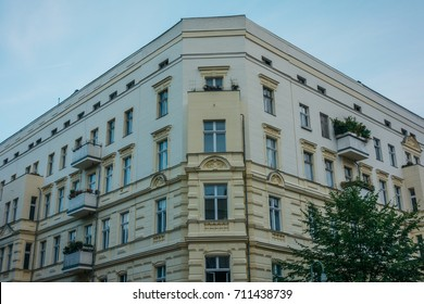 white corner house in prenzlauer berg