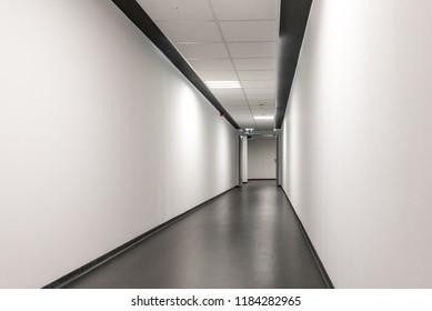 white corridor in office building