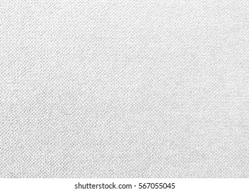 White cotton fabric woven canvas texture with gray pattern background. Soft focus linen sack craft art design.