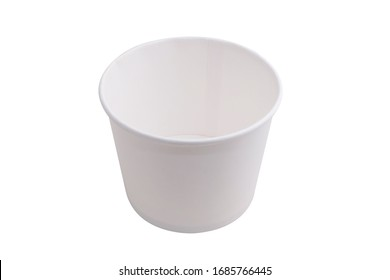white craft Paper cup isolated on white background
