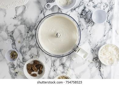 White Cream in a Blender