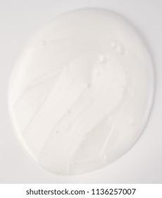 white cream isolated over white background