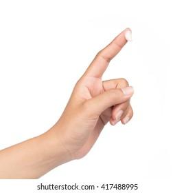 white cream lotion on finger isolated on white background