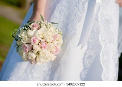 white cream tender bridesmaid dress