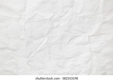 White creased paper, background texture