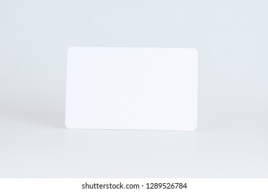 White credit card isolated path, type MC, empty, wo chip