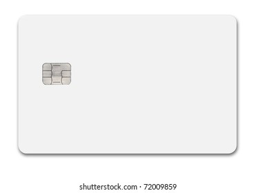 White credit card isolated path