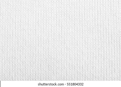 White Crocheted Fabric Texture