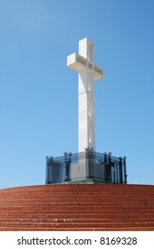 White cross; Mount Soledad Memorial; San Diego, California