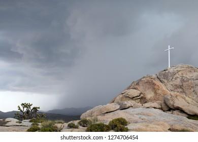 The White Cross World War I Memorial in the Mojave Desert in California, which was at the center of the US Supreme Court case Salazar v. Buono