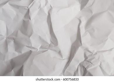 White crumple paper. Copy space