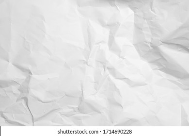 white crumpled paper for background.