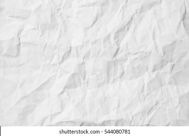 White crumpled paper floor background. texture wrinkled wall; pastels book cover paint top view; Gray grunge surface empty parchment sheet. Dirty art poster above folds angle craft focus light scene.