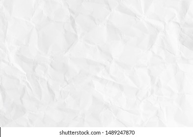 white crumpled paper texture for background.