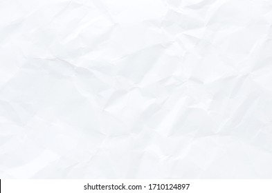 white crumpled paper texture background, White paper for texture background.