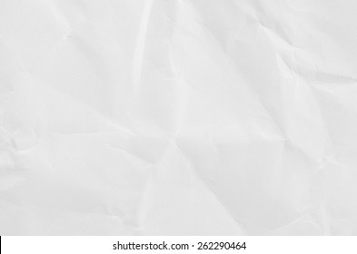 White crumpled paper for texture or background.