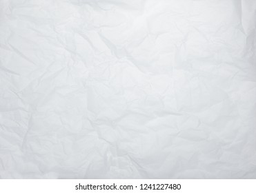 White crumpled parchment paper background texture