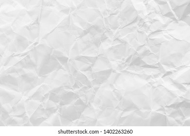 White crumpled recycled paper texture background for business communication and education concept design