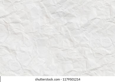 White crumpled sheet of paper. Textured seamless pattern