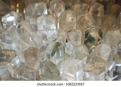 white crystal mineral texture as very nice natural background