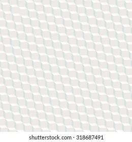 White cubed texture seamless pattern with blue shadow.