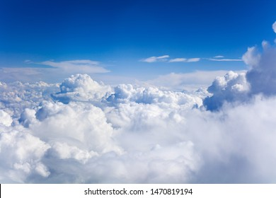 White cumulus clouds on clear blue sky background closeup, overcast skies backdrop, fluffy cloud texture, beautiful sunny cloudscape heaven, ozone layer illustration, scenic cloudy weather, copy space - Shutterstock ID 1470819194