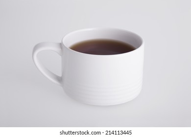 White cup from coffee on a white background.