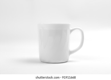 White Cup on White Back