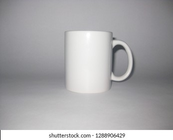 White cup without image for sublimation on a white background