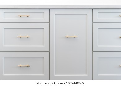 White cupboards drawers storage shelve