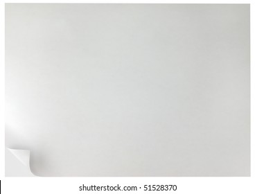 White Curled Edge Page Curl Background, isolated