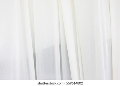 White Curtain Backdrop With Light