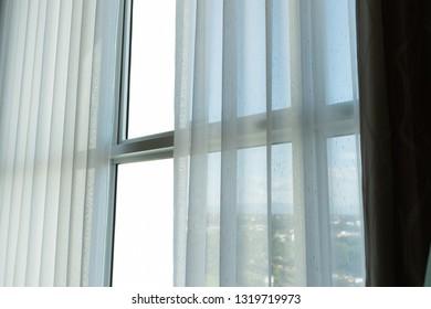 white curtain interior decoration on window