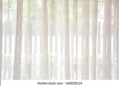 White curtains thin beautiful background, vintage background