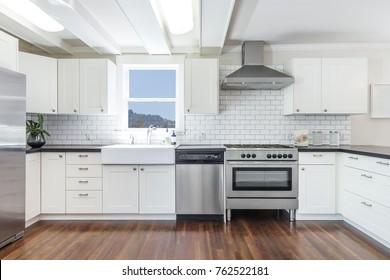 White Custom kitchen.