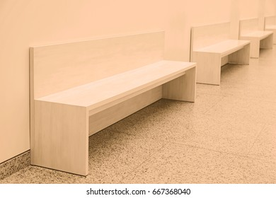 White decorative benches, detail of furniture to rest