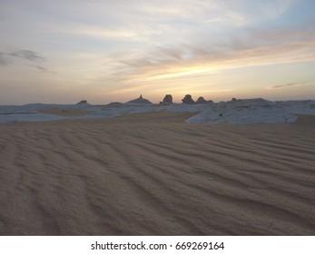 White desert of the Sahara desert