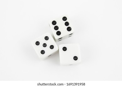 White Dice on a White Background