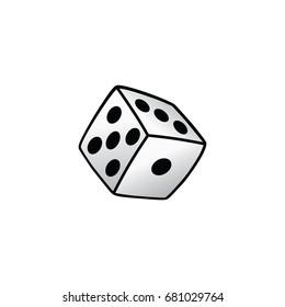 white dice risk taker gamble