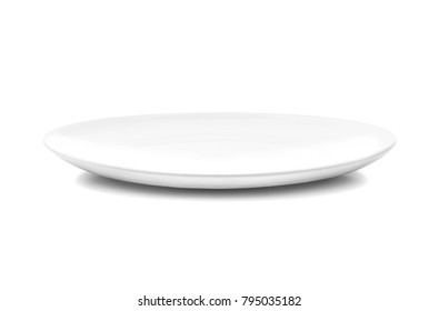 white dish or ceramic plate a kitchenware isolated on white background with clipping path