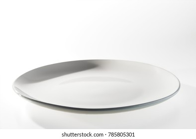 White dish on a white background.